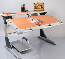 Столы с ящиками и полками для школьника
